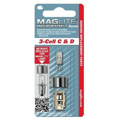 Maglite Mag-Num Star II Xenon ampoule pour 3-Cell C /& D Torche LMXA301U New /& Sealed