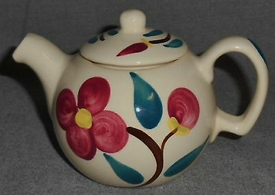 PURINTON POTTERY Hand Painted MOUNTAIN ROSE PATTERN One Cup TEAPOT