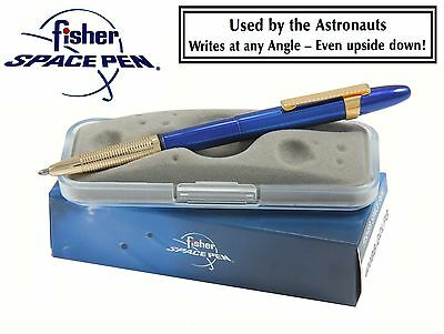 Fisher Space Pen #400BB-GCLFG / Blueberry Bullet Pen with Gold Tip and Clip