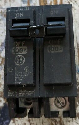 used GE THQL21100 100A 2 Pole 1 120/240v Circuit Breaker