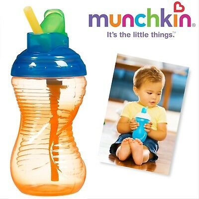 Munchkin Mighty Grip Flip Straw Cup, 10 Ounce each (ORANGE)