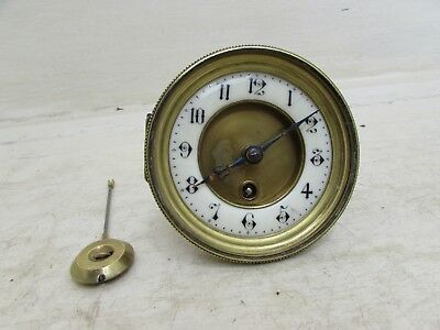 Antique Jules Rolez Limited Paris Mantel Clock Movement, Pendulum, Hands & Face