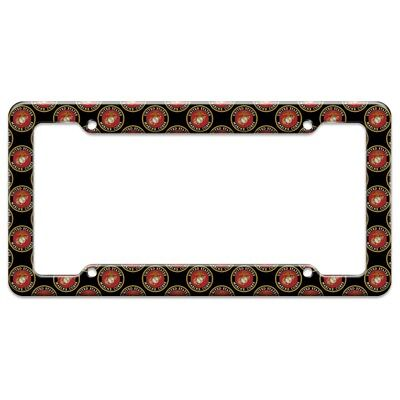 Marines USMC Emblem Black Yellow Red Officially Licensed License Plate Tag Frame