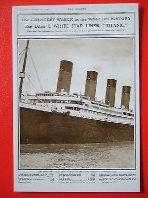 R M S Titanic Postcard -' The Greatest Wreck In The World's History-The Sphere