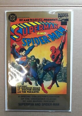 DC & MARVEL TREASURY EDITION SUPERMAN and SPIDER-MAN  VF+/NM CONDITION
