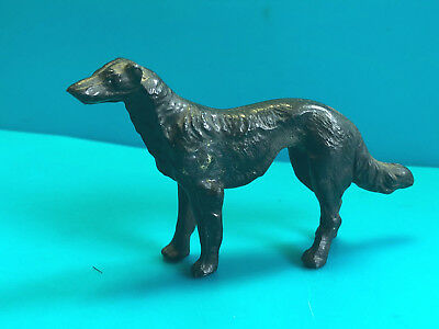 Old Vtg Collectible Lead Figurine Borzoi? Russian Wolfhound? Dog Animal Pet