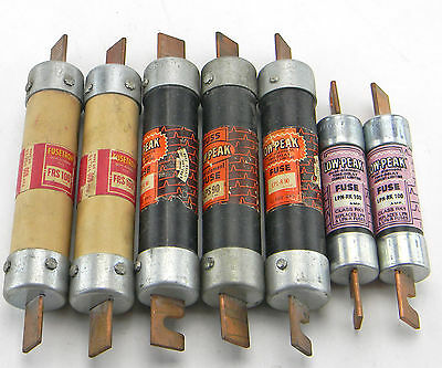 Lot 7 Bussmann Low-Peak Dual-Element Time-Delay Fuses Lps-R-90 Lpn-Rk-100 Frs100