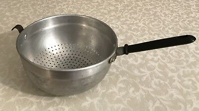 Vintage Aluminum Pot Strainer w/Black Bakelite? Handle