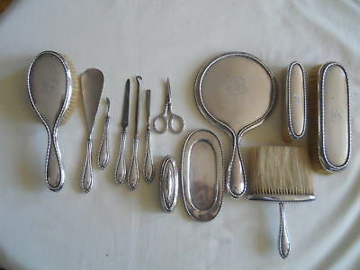 Birks Sterling 13 Pc Vanity Dresser Set