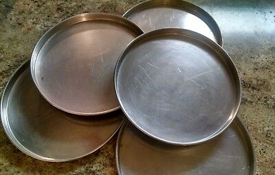 5 Used Allied Metal 14 inch deep pizza pans