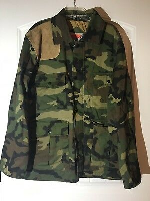 Winchester Woodland Camouflage Mens M Hunting Outdoor Field Jacket Coat VGUC