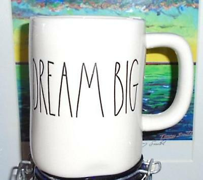 DREAM BIG~HTF Rae Dunn Mug~Artisan Collection~Big Ivory Cup~Kitchen Chic NEW