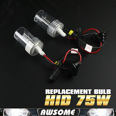 2x H8/H9/H11 75W HID Xenon Headlamp 6000K Cool White Car Auto Light Bulb Replace