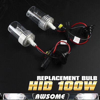 2x 9006/HB4 100W HID Replacement 6000K White Xenon Headlamp Car Auto Light Bulbs