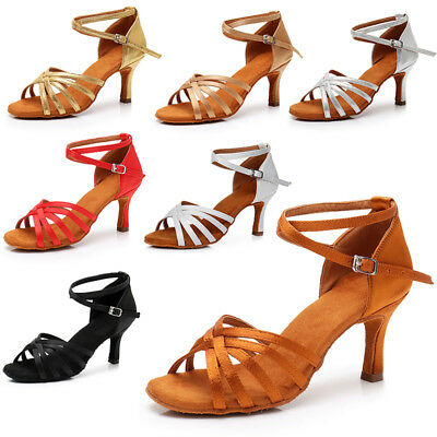 Hot sale Women's Ballroom Latin Tango Dance Shoes Salsa 5 Colors  5/7cm Heels