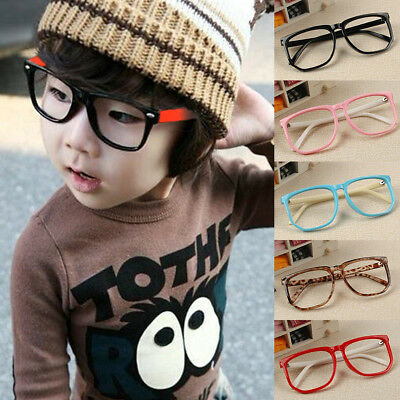 Retro Eyeglasses Baby Glasses Frame Kids Square Boys Simple Fashion Children New