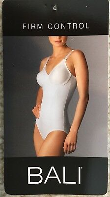 Bali easy on bodysuit body briefer black style 8265 various sizes .