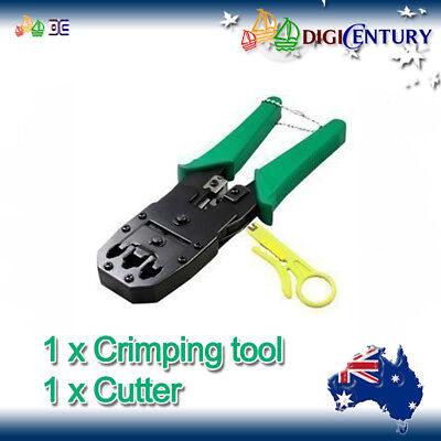 NEW NETWORK Crimper with Cutter for RJ45 RJ11 Phone LAN Ethernet Cable Tool