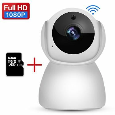 HD 1080p Home Video Camera Indoor IR Security IP Cams for Baby/Nanny/Pet Monitor