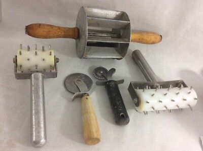 Lot VTG LONG JOHN Eclair DONUT Cutter DOUGH Docker DOUGHNUT Pastry