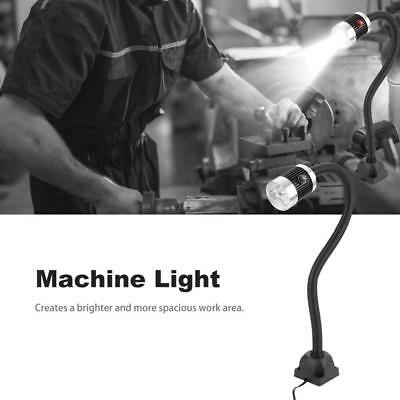 6W LED Light Lamp Lathe Grinder Sewing Machine Work Gooseneck Lamp w/ Fixed Base