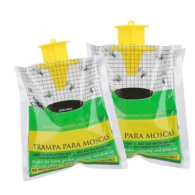 Hanging Fly Trap Non Toxic Outdoor Insect Killer Pest Control Catcher Bag Tools