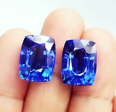 Loose Gemstone 8 to 10 cts 2 Certified Pairs Best Offer Natural Blue Sapphire