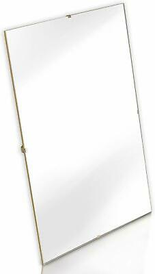 Clip Frame Frameless , Photo , Picture Frame Large + Small Sizes in Inches