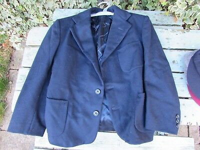 1940's Boy's single breasted navy blue jacket age 7-9 years old American made.