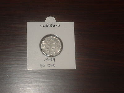 1979 Sweden 50 Ore coin Swedish fifty ores