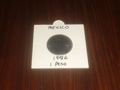 1984 Mexico 1 Peso coin Mexican one pesos
