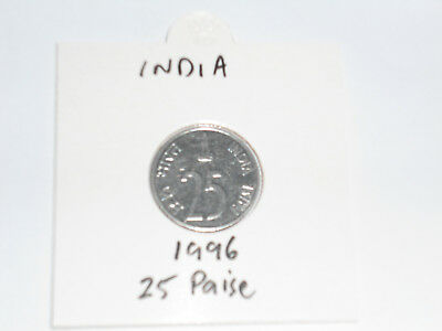1996 India 25 Paise coin Indian twenty-five paises