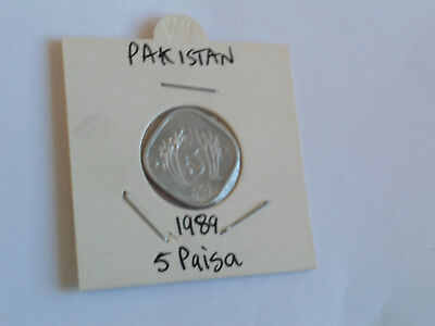 1989 Pakistan 5 Paisa coin Pakistani five pice