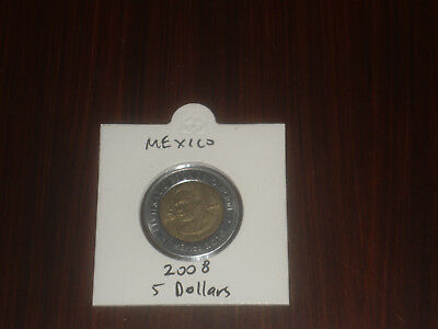 2008 Mexico 5 Peso coin Mexican five pesos