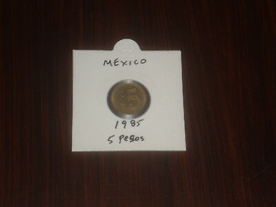 1985 Mexico 5 Peso coin Mexican five pesos