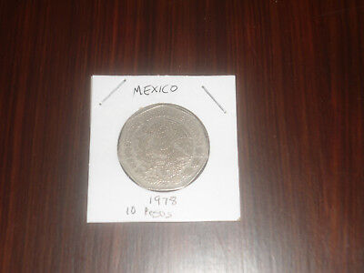 1978 Mexico 10 Peso coin Mexican ten pesos