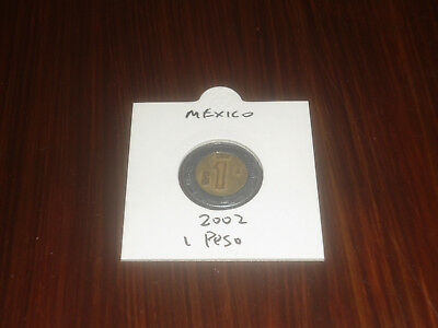 2002 Mexico 1 Peso coin Mexican one pesos
