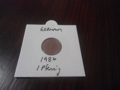 1986 Germany 1 Pfennig coin German one pfennigs