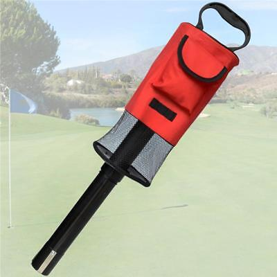 Removable Golf Ball Picker Pick-Up Retriever Pocket Scooping Device Storage Bag
