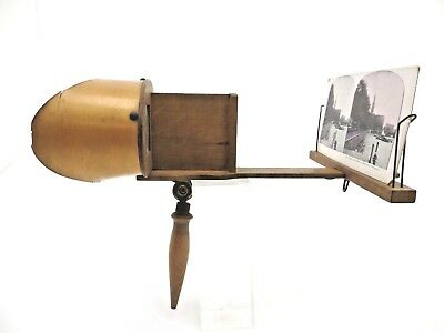 Stereoviewer Holz Stereobild ca 1920 Hamburg, Germany Stereo Betrachter pf017