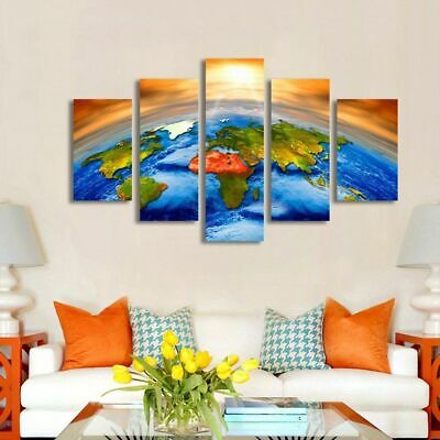 Awesome Solar System Painting 5p Canvas Print Poster Wall Art Picture Home Decor