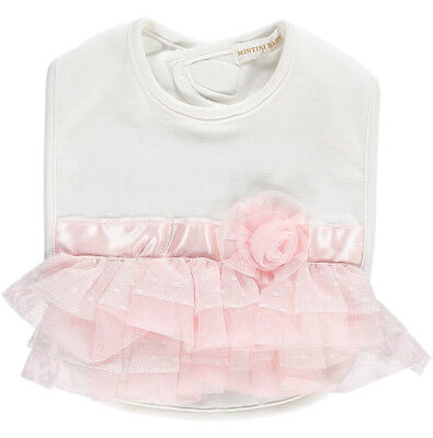 Stunning Mintini Baby Spanish Style Romany Tulle Rose Frilly Occasion Bib AW'18