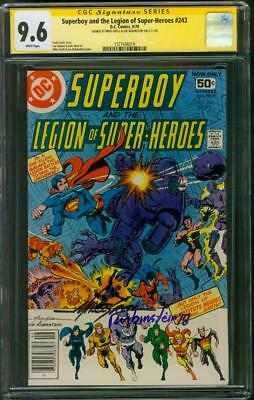 Superboy Legion of Super Heroes 243 CGC 9.6 2XSS 9/1978 Superman Justice League