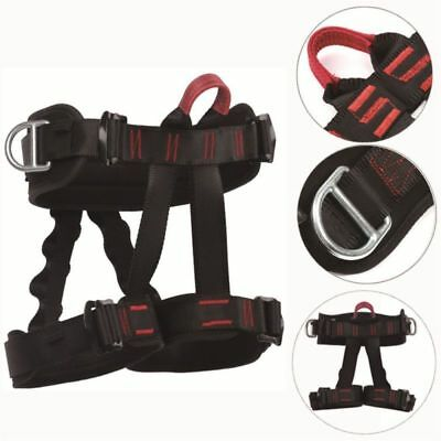 Black Adjustable Safety Harness Seat Bust Belt for Aerial Wire Action Film