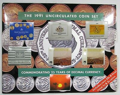 Australia Mint Sets. Lot of 8 Years 1984,1985,1986,1987,1988(2),1989,1991
