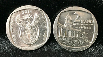 """South Africa 2 rand 2014 /""""Union Buildings/"""" UNC"""