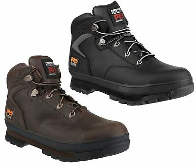 Timberland Euro Hiker 2G Mens Brown Black Leather Steel Toe Safety Boots