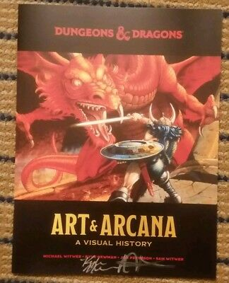 Promo Dungeons & Dragons Art & Arcana signed Kyle Newman Jon Peterson SDCC 2018