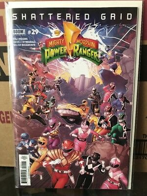 Mighty Morphin Power Rangers #29 NM 1st Print Cover Shattered Grid Comic Book