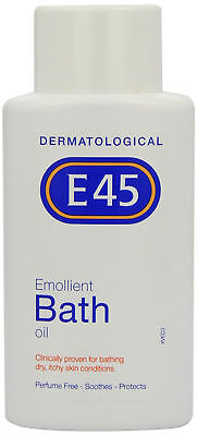 E45 Emollient Bath Oil For Dry Itchy Skin Soothes Protects Perfume Free 500ml